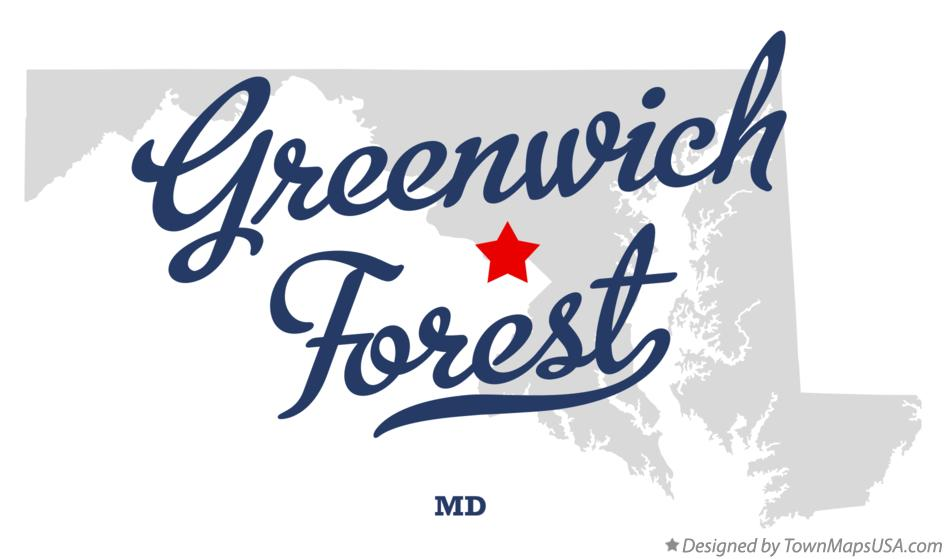 Map of Greenwich Forest Maryland MD
