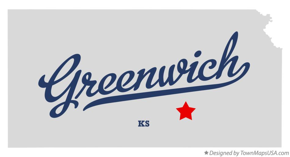Map of Greenwich Kansas KS