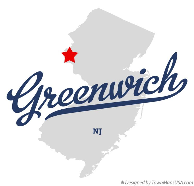Map of Greenwich New Jersey NJ