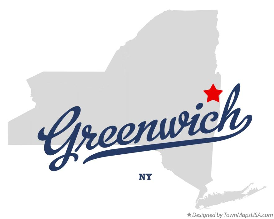 Map of Greenwich New York NY