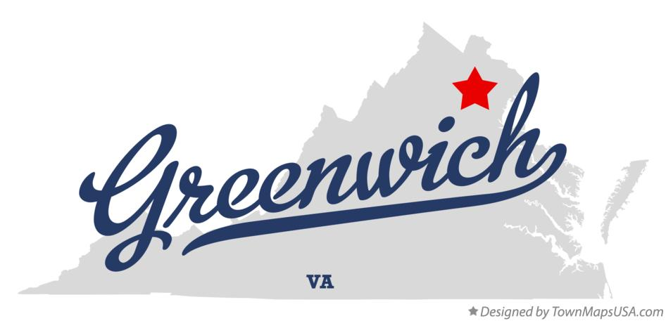 Map of Greenwich Virginia VA
