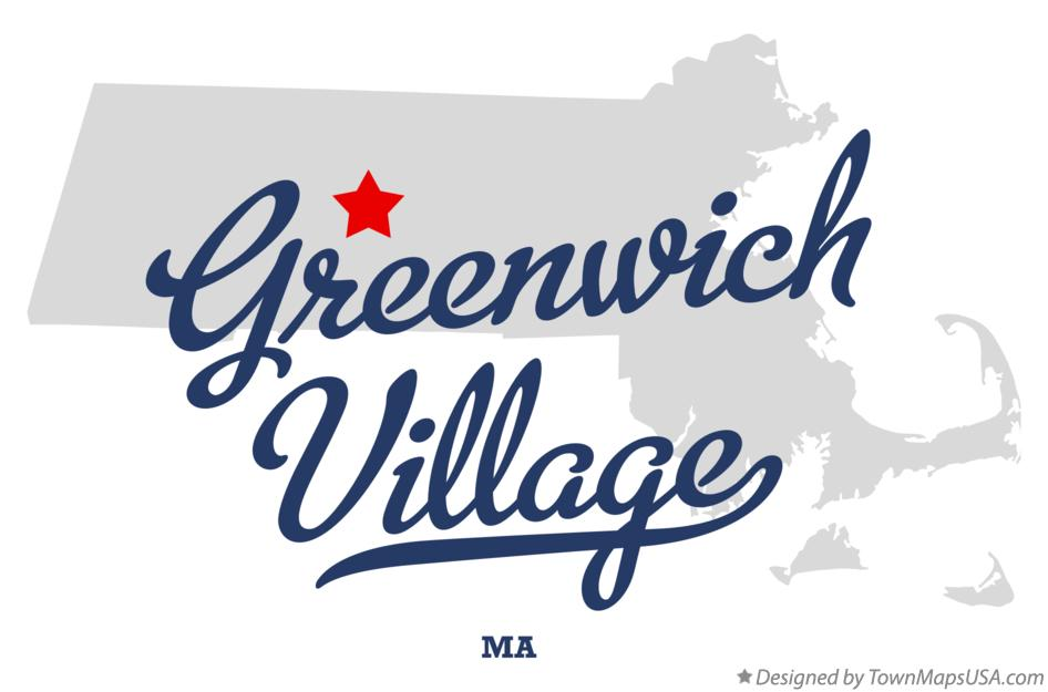 Map of Greenwich Village Massachusetts MA