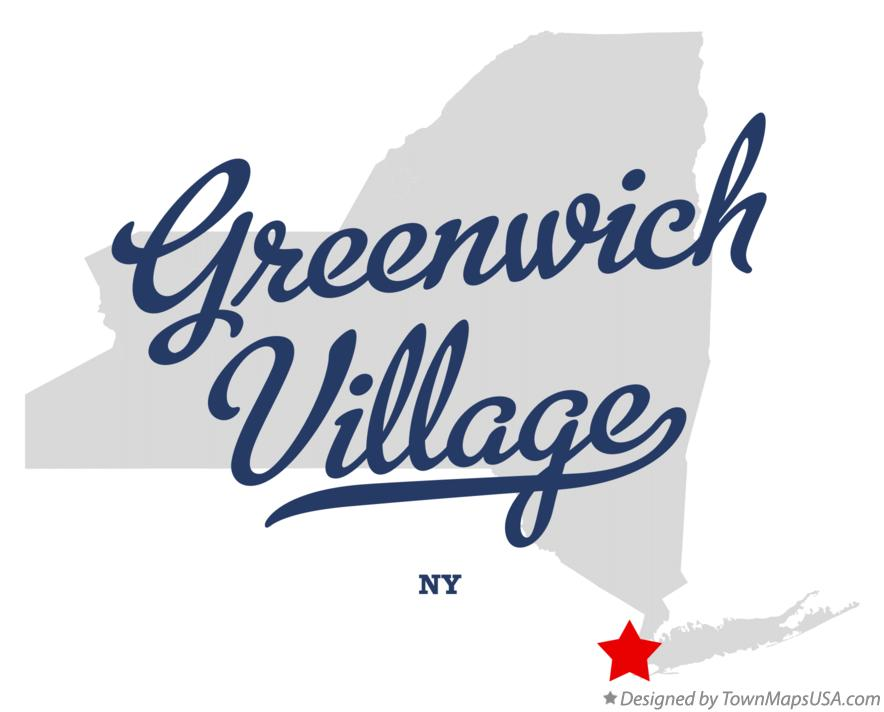 Map of Greenwich Village New York NY
