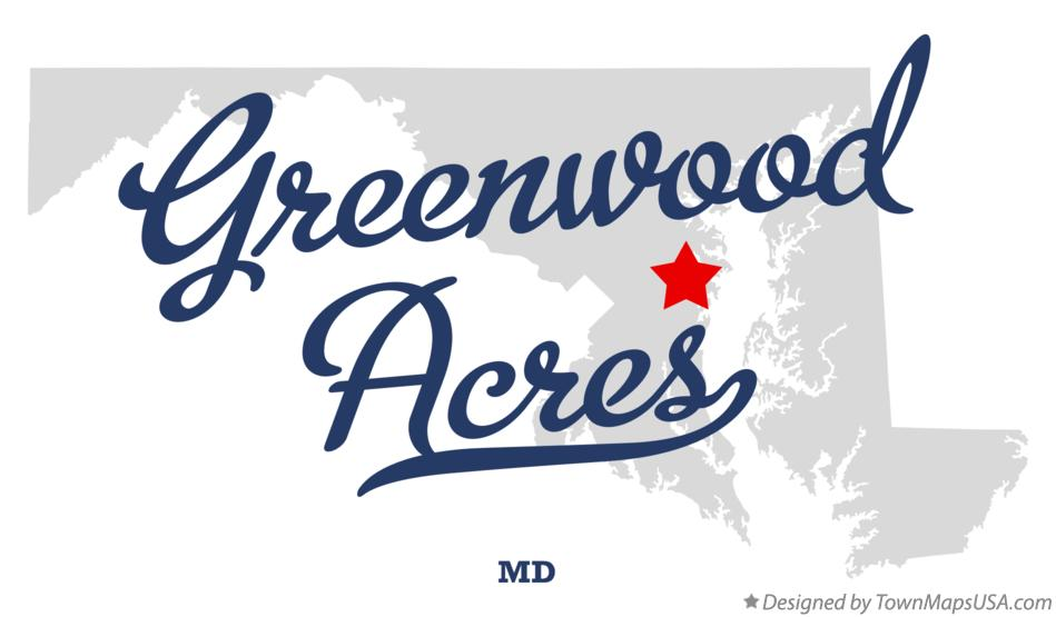 Map of Greenwood Acres Maryland MD