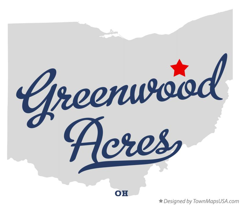 Map of Greenwood Acres Ohio OH