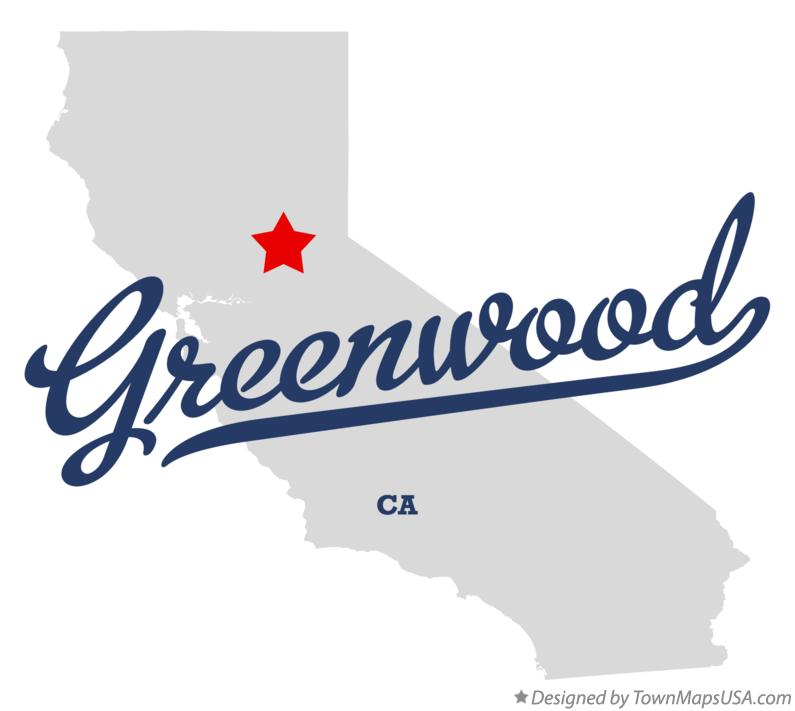 Map of Greenwood California CA