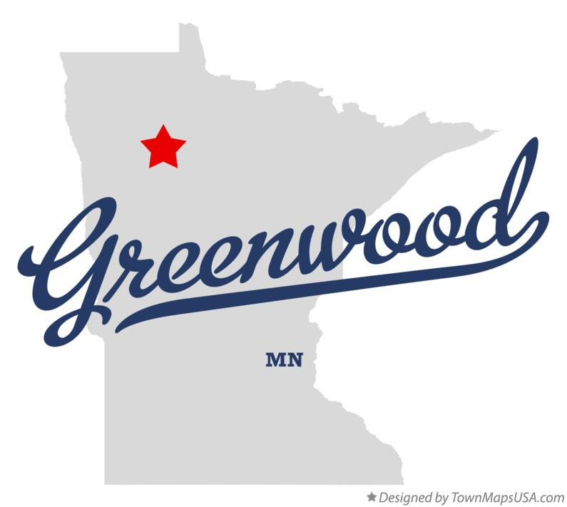 Map of Greenwood Minnesota MN