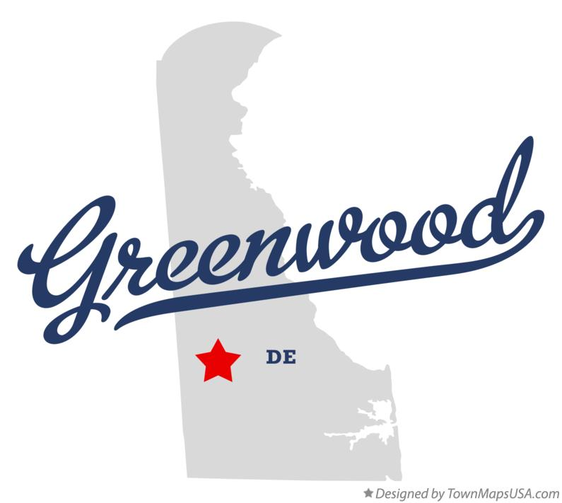 Map of Greenwood Delaware DE