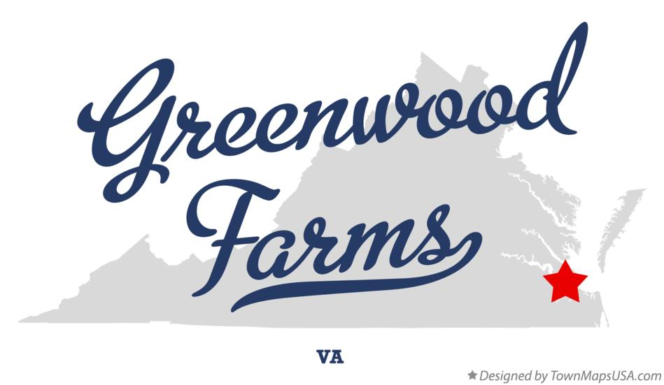Map of Greenwood Farms Virginia VA