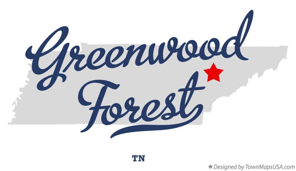 Map of Greenwood Forest Tennessee TN