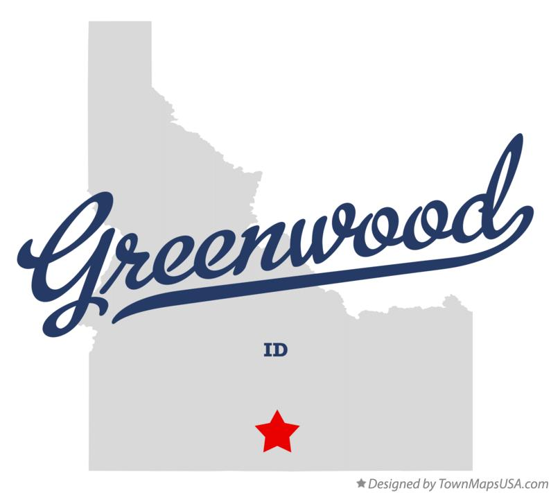 Map of Greenwood Idaho ID