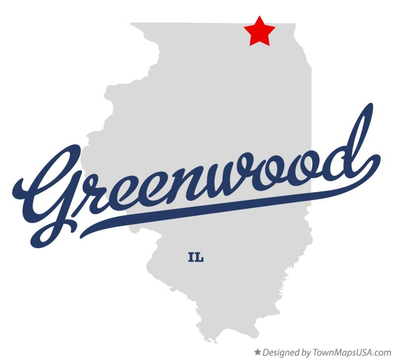 Map of Greenwood Illinois IL