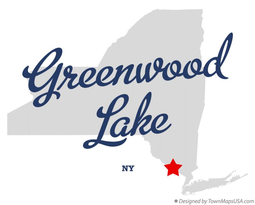 Map of Greenwood Lake New York NY