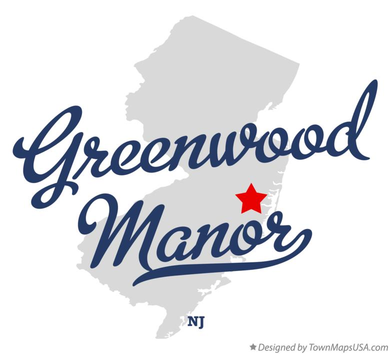 Map of Greenwood Manor New Jersey NJ