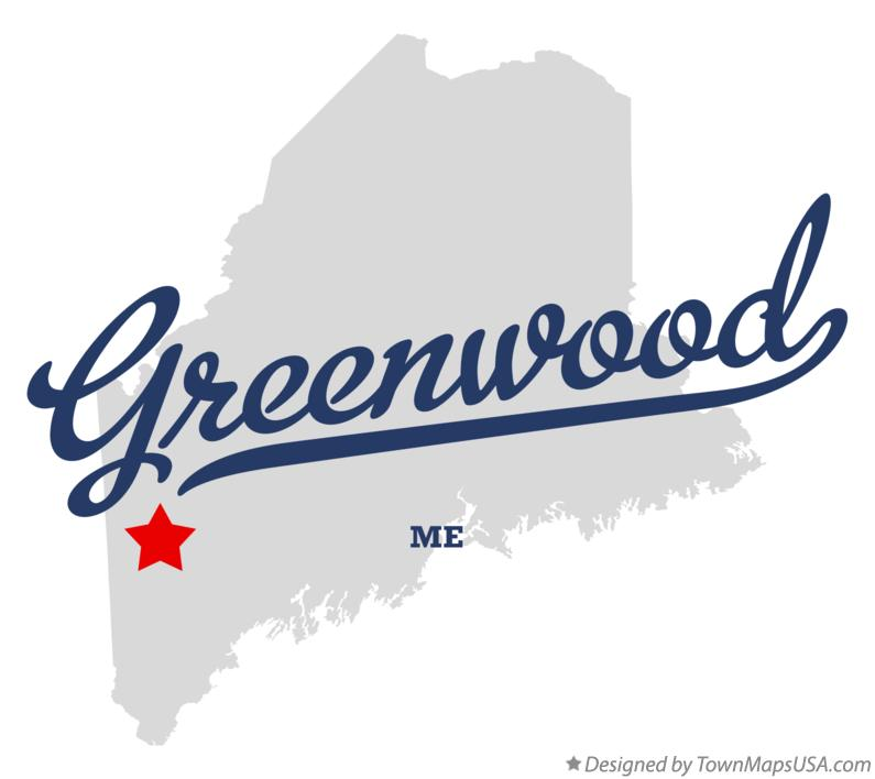 Map of Greenwood Maine ME