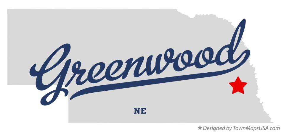 Map of Greenwood Nebraska NE