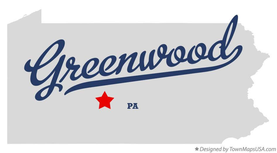 Map of Greenwood Pennsylvania PA