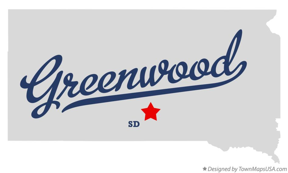 Map of Greenwood South Dakota SD