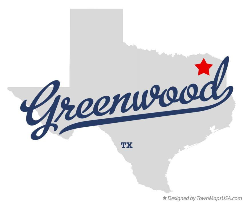 Map of Greenwood Texas TX