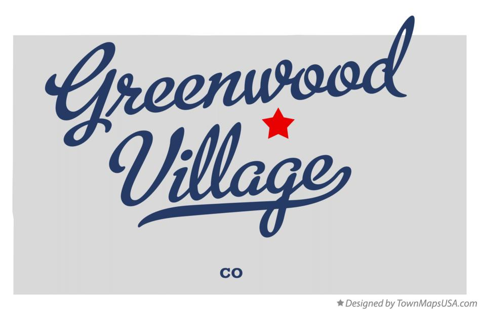 Map of Greenwood Village Colorado CO