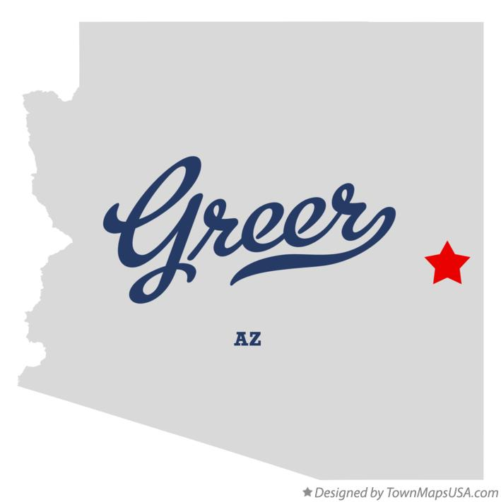 Map of Greer Arizona AZ