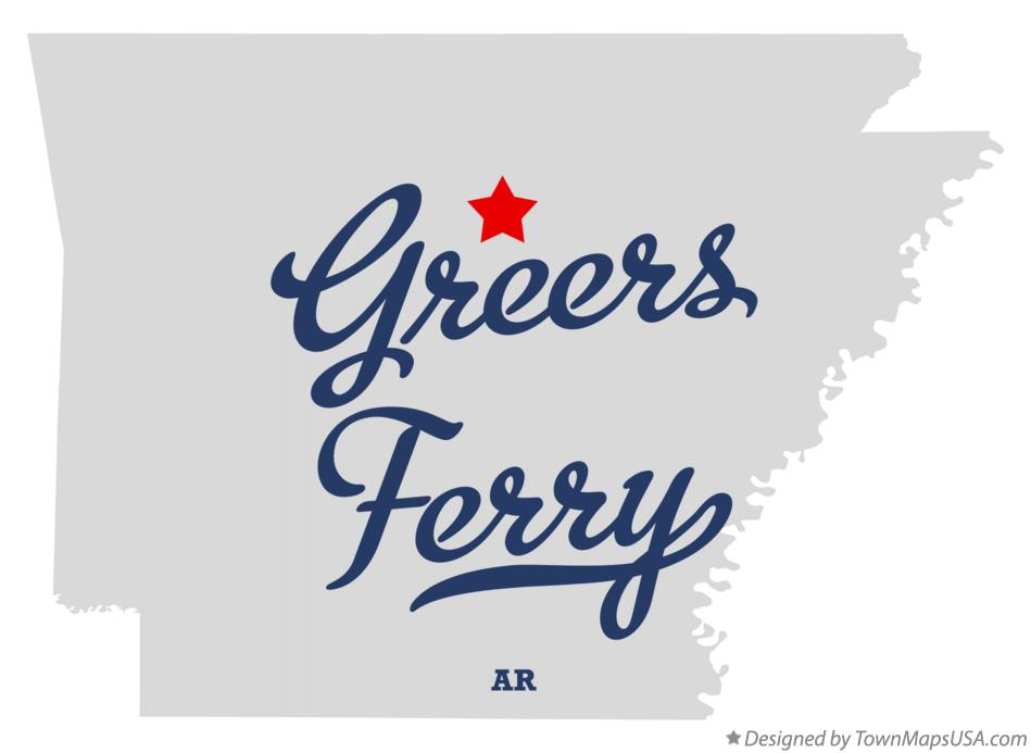 Map of Greers Ferry Arkansas AR