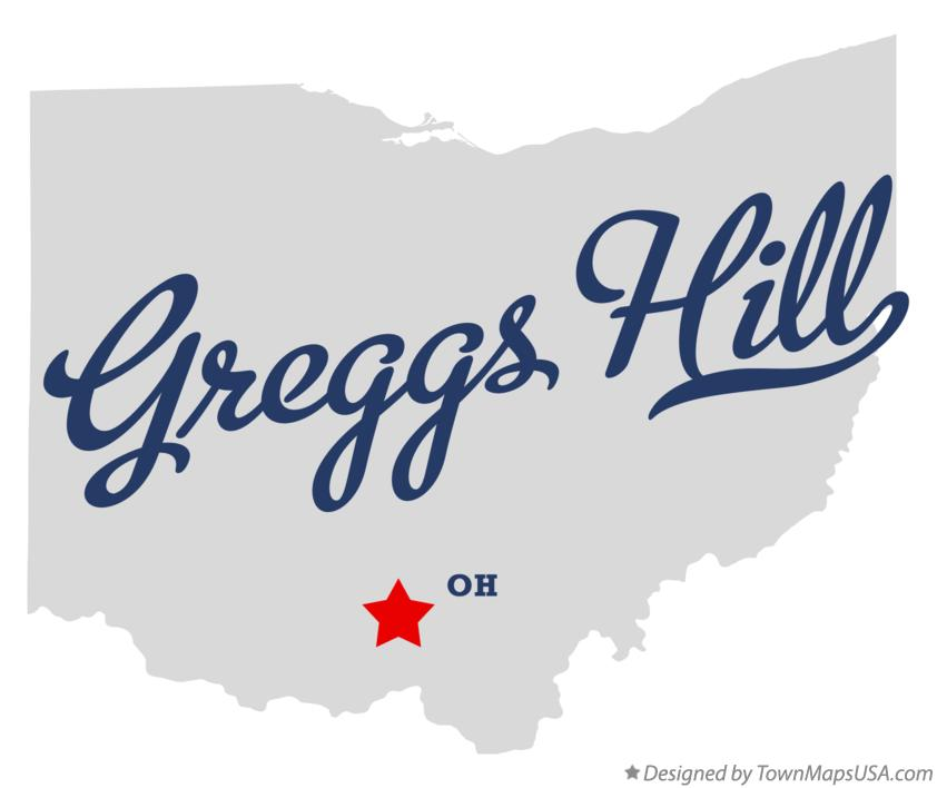 Map of Greggs Hill Ohio OH
