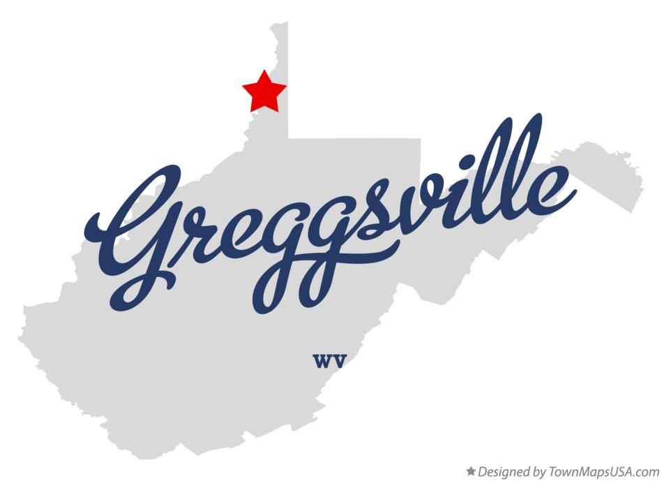 Map of Greggsville West Virginia WV