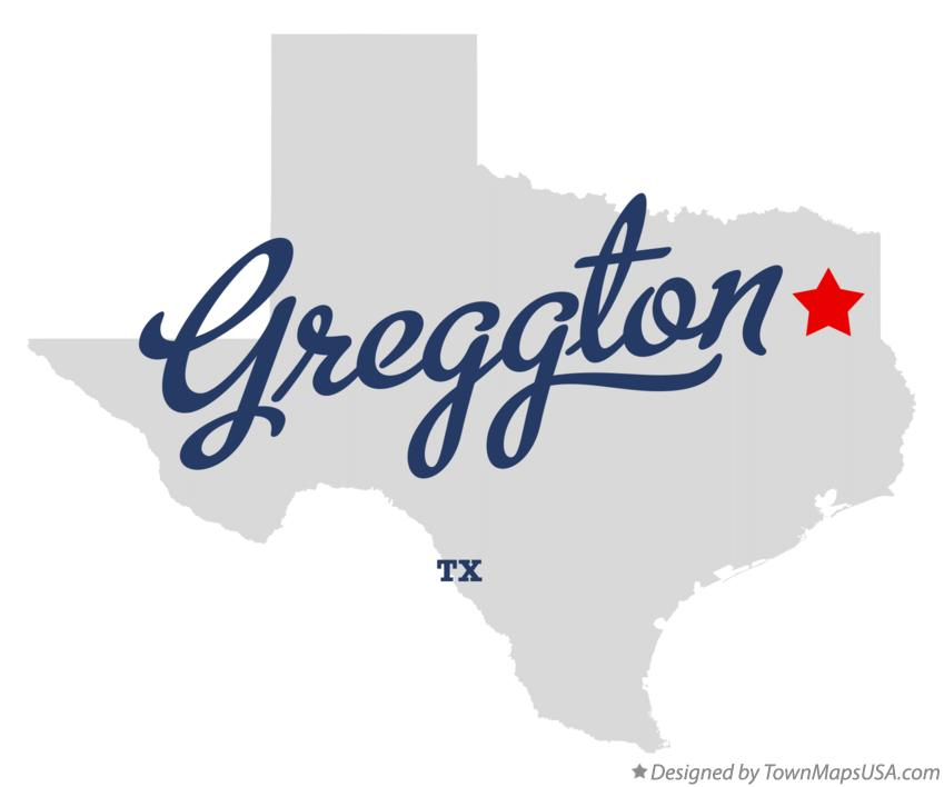 Map of Greggton Texas TX