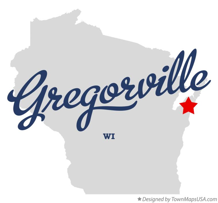Map of Gregorville Wisconsin WI