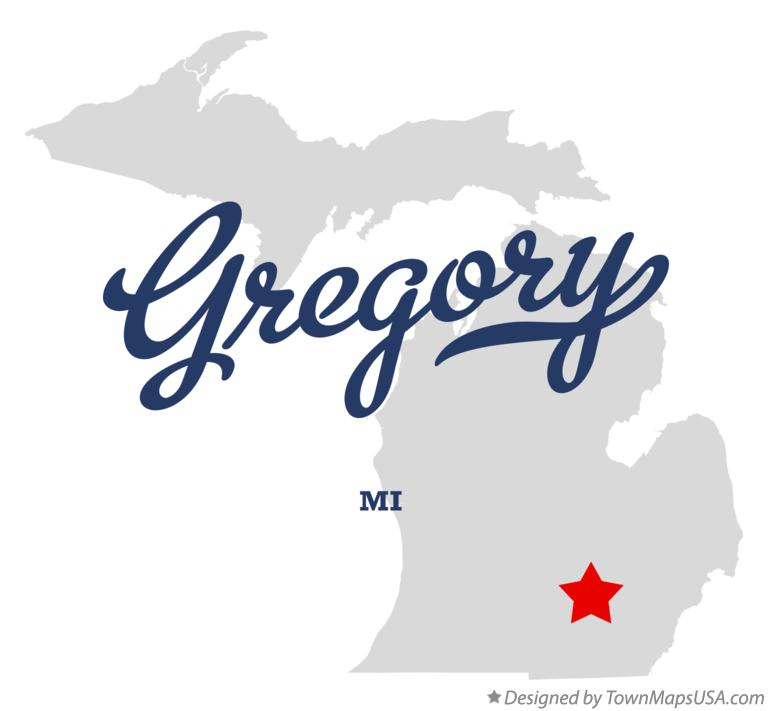 Map of Gregory Michigan MI