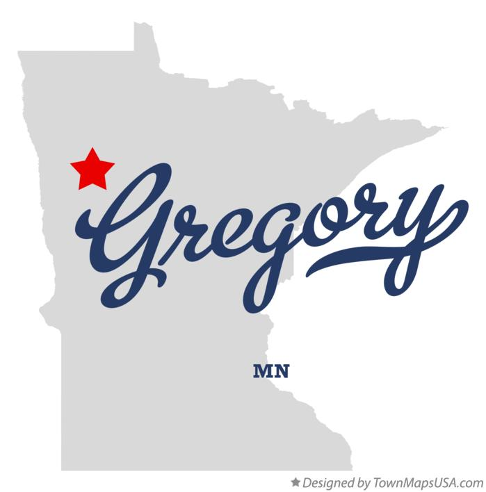 Map of Gregory Minnesota MN
