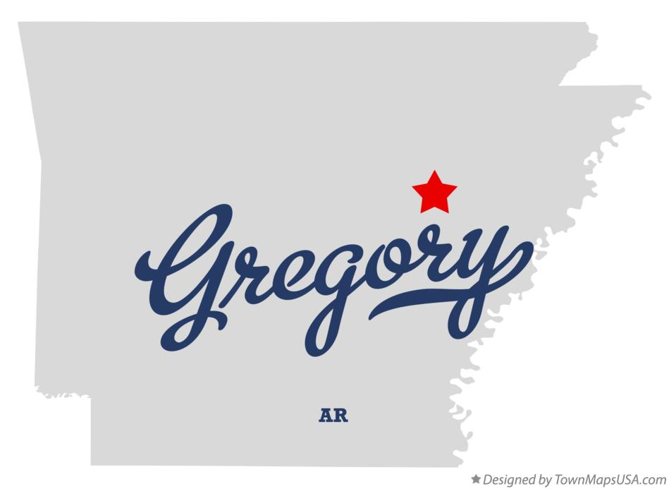 Map of Gregory Arkansas AR