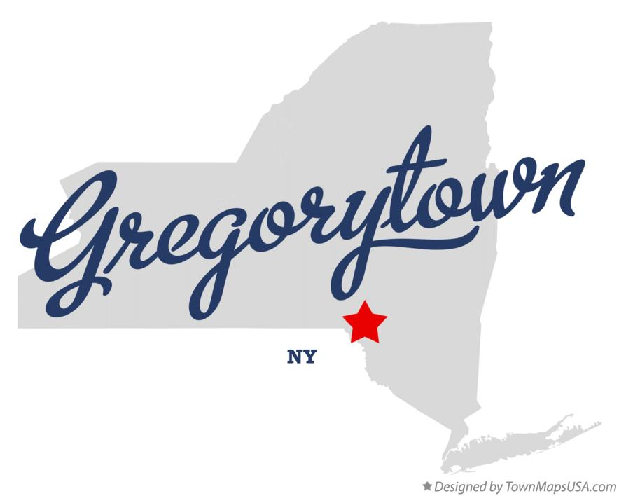 Map of Gregorytown New York NY