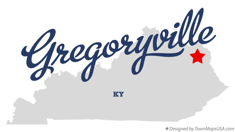 Map of Gregoryville Kentucky KY