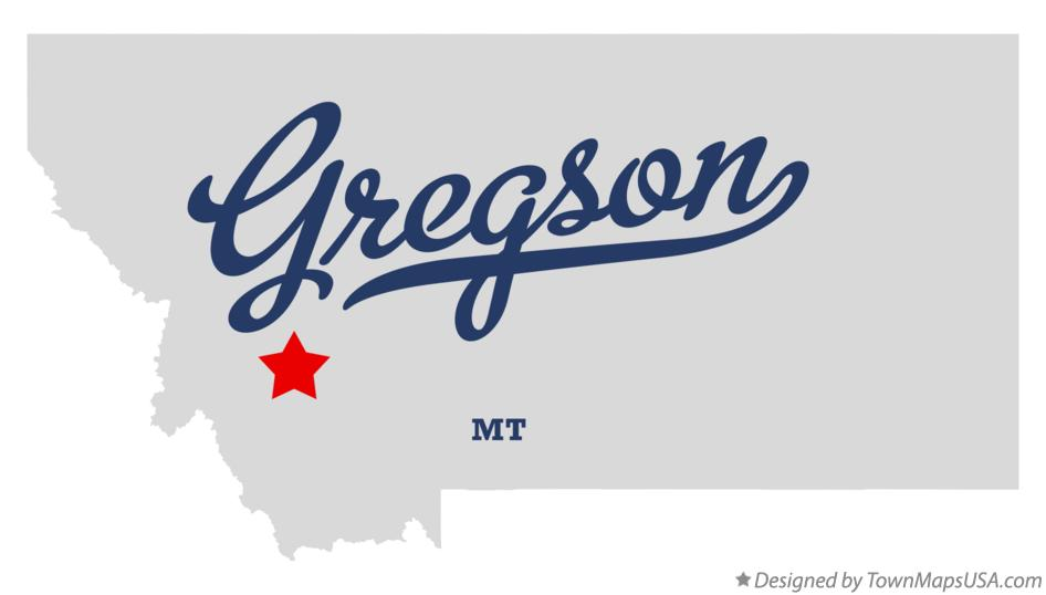 Map of Gregson Montana MT