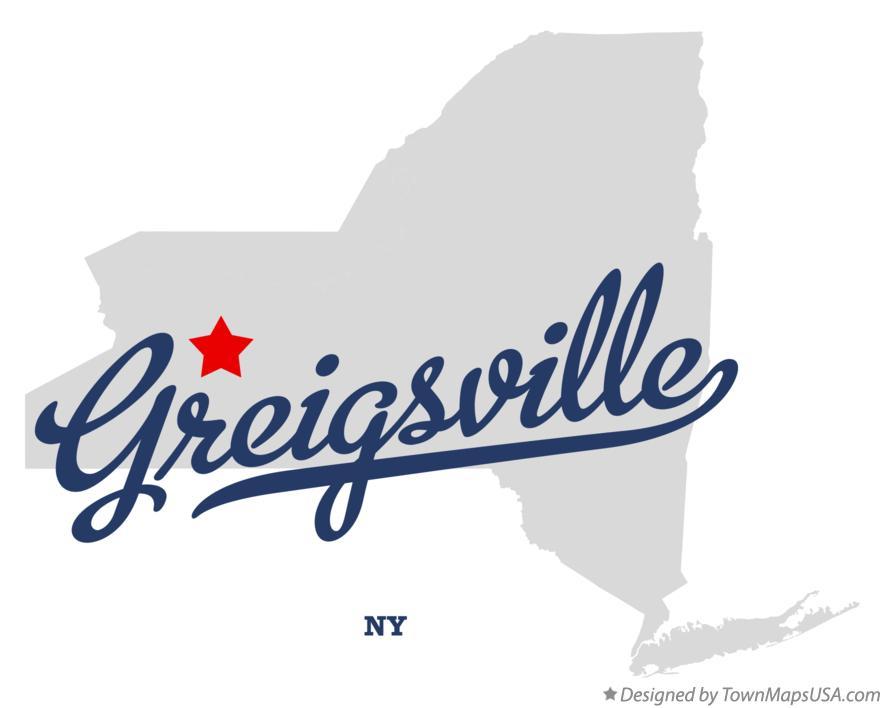 Map of Greigsville New York NY