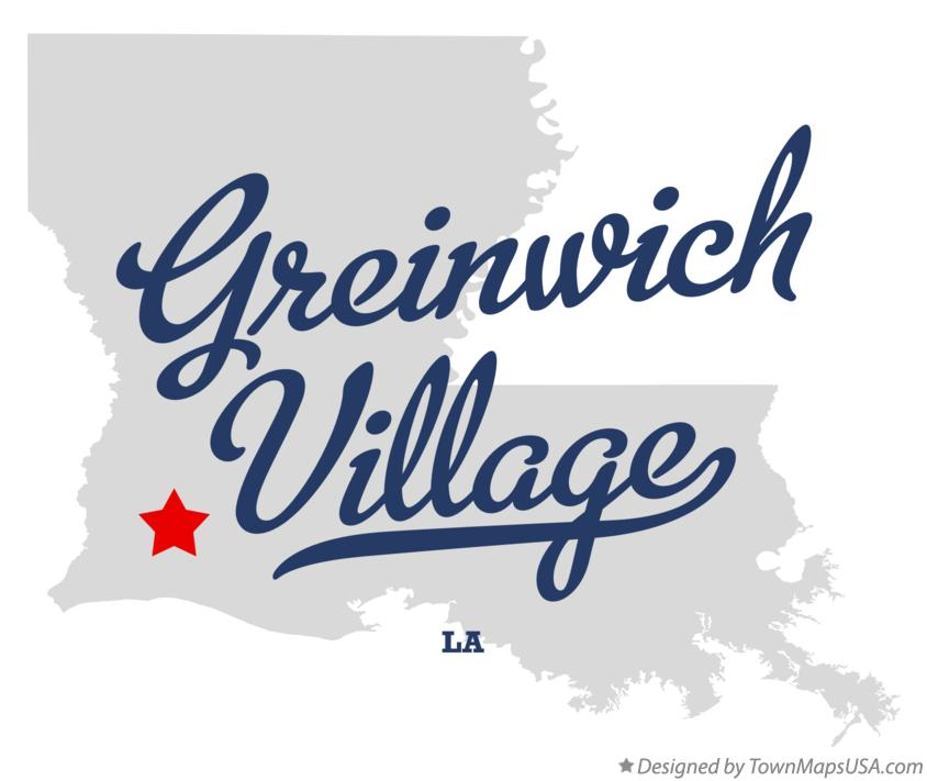 Map of Greinwich Village Louisiana LA