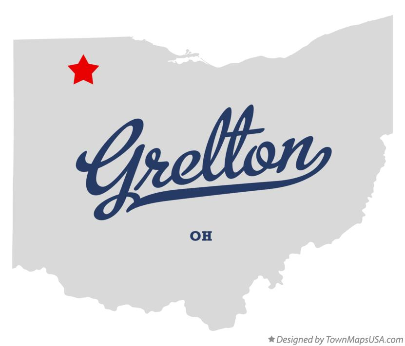 Map of Grelton Ohio OH