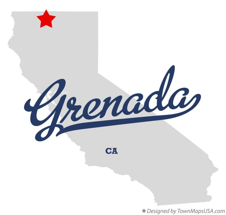 Map of Grenada California CA