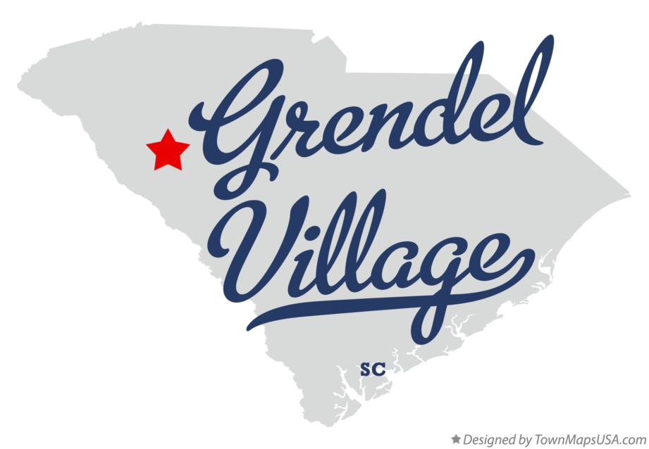Map of Grendel Village South Carolina SC