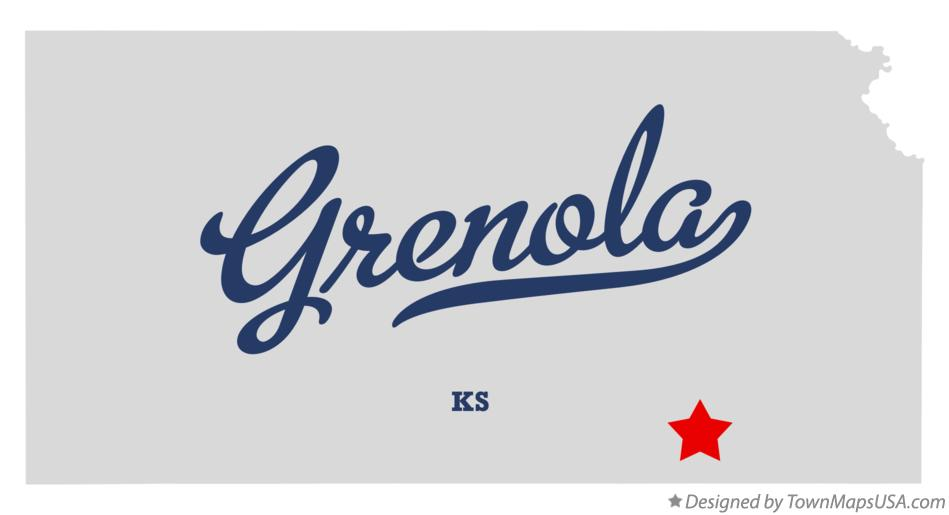 Map of Grenola Kansas KS