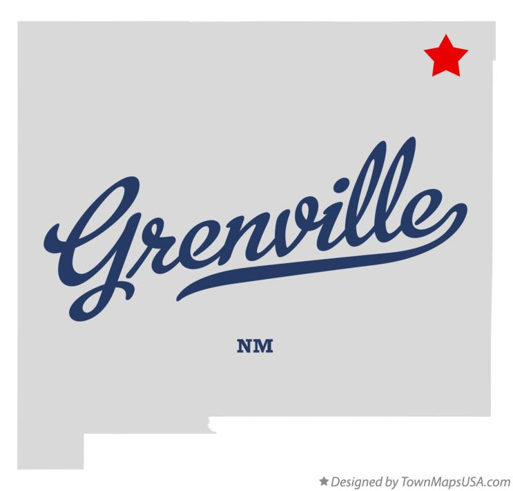 Map of Grenville New Mexico NM