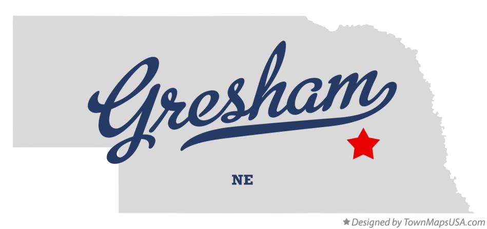 Map of Gresham Nebraska NE