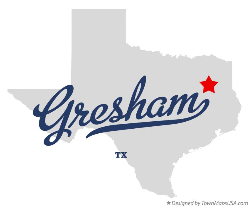 Map of Gresham Texas TX