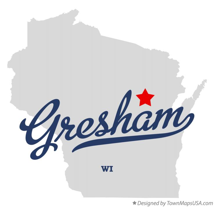 Map of Gresham Wisconsin WI