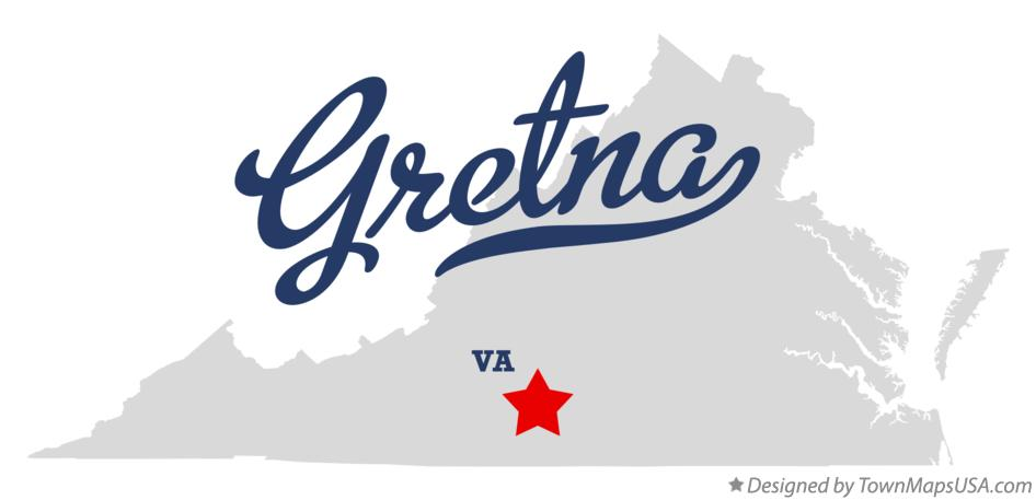 Map of Gretna Virginia VA