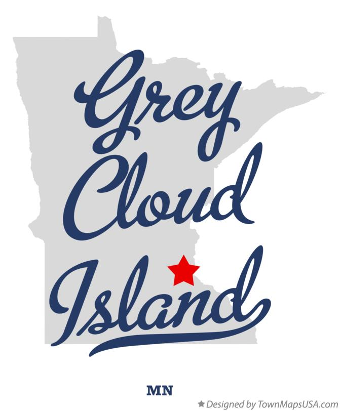 Map of Grey Cloud Island Minnesota MN
