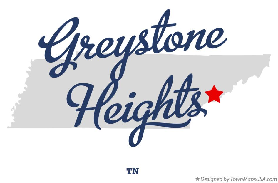 Map of Greystone Heights Tennessee TN
