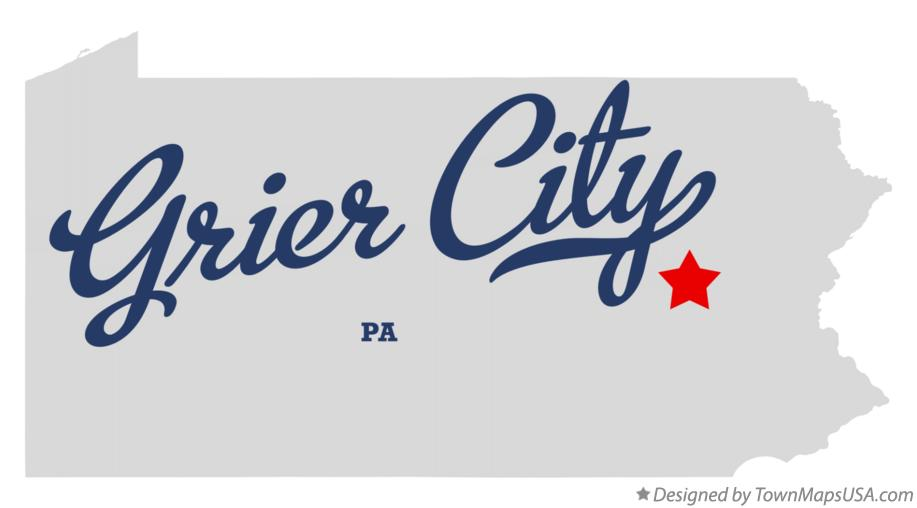 Map of Grier City Pennsylvania PA